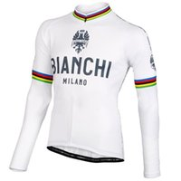 Wholesale Bianchi Cycle Clothes - 2016 Bianchi Long Cycling jersey ropa ciclismo men's cycling clothing MTB Long sleeve bike jersey high quality cycle tops