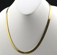 Wholesale gold plated herringbone chain resale online - Mens K Yellow Gold Plated in Herringbone Chain Necklace MM