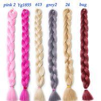 Wholesale Long Hair Piece Extension - VERVES long 82 inch,165g pcs synthetic Braiding Hair High Temperature Fiber Hair Extensions free shipping crochet hair braid