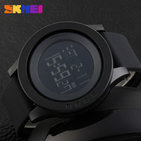 Wholesale Large Led Watches - SKMEI Large Dial Outdoor Men Sports Watches LED Digital Wristwatches Waterproof Alarm Chrono Calendar Fashion Casual Watch 1142