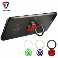 Wholesale Lollipop Iphone Case - New Mobile Phone Holder Phone Ring Magnet Bracket 360 Degrees Magnetic Phone Ring Holder Ring Car Lollipop Navigation Frame Zinc Alloy