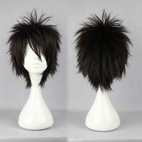 Wholesale Naruto Cosplay Hair - MCOSER Promotion Halloween Naruto Momochi Zabuza Classical Asia Black 30cm Short Man Cosplay Synthetic Wig Cosplay women's peruca hair queen
