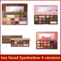 Wholesale Hot Too faced Eyeshadow Palette Sweet Peach Chocolate Bar Semi sweet Chocolate Bon Bons eyeshadow collection