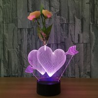 No cartoons of love - The Arrow of Love with Flower D Night Lamp Optical Night Light LEDs Night Light DC V Factory Dropshipping