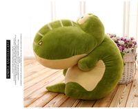 Wholesale Toy Crocodiles - 2017 New cartoon lovely crocodile 50cm plush green figure doll.
