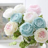 Wholesale Red Flower Top - Artificial flower peony top grade silk flower Wedding Flowers Bride Bouquets Holding Flower