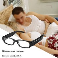 Full HD 1080P Spy Glasses Camera No Hole Lunettes de soleil cachées Caméscope Digital Video Recorder Eyewear MINI DV DVR Support TF Card