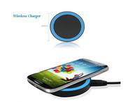 kablosuz şarj aleti galaxy nexus toptan satış-Kablosuz Şarj Pad Kablosuz Şarj Qi Standart Samsung Galaxy Not için 5 S6 S6 Kenar S6 Kenar Artı LG Nexus 4 5 6