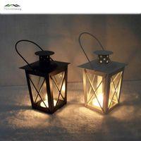 Wholesale Decorative Lamp Stand - Metal Bird Cage Wedding Candle Holder Lantern Morocco Vintage Small Lanterns For Candles Decorative Cages Moroccan Lamp WD 44