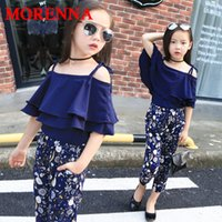 MORENNA Girls Set Одежда Kids Fashion Top Pant Two Piece Дети Летние костюмы для девочек Boutique Outfits 4-13 Years