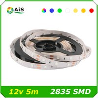 5M 300LED / Roll RGB lampe à rayons LED 2835 60leds / m IP20IP65 DC12V ruban à diode ruban pour armoire de plafond Christmas Holiday Decoration