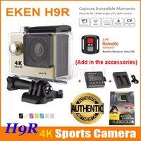 ingrosso dv telecamera remota-Fotocamera originale EKEN H9 H9R 4K con caricatore dock per batterie 2pcs Telecomando HDMI Wifi impermeabile Sport DV 1080P 170 gradi DHL 10pcs