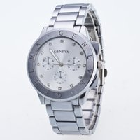 Wholesale Men Rose Gold Watches - 2017 New Arrival Wholesale High Quality Men Luxury Geneva Watch Gold Silver Rose Gold Three Types Watches Utop2012