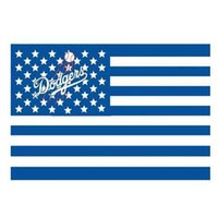Wholesale Wholesale Team Flags - Los Angeles Dodgers Flags Baseball Team Flag Party Decoration Fashion Accessiories Banner Blue Falg Office Home Garden Flag Banners