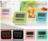 Wholesale Hours Minutes - Kitchen Cooking 99 Minute Digital LCD Alarm Clock Medication Sport Countdown Calculator Kitchen Timers CCA6684 100pcs