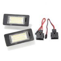 Wholesale Audi A4 Headlight Switch - 2Pcs 12V 3W 24 LEDs License Plate Light Number Plate Lamp For Audi TT Q5 A4 A5 S5 For VW Passat R36 2008