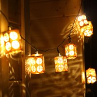 Wholesale Small Chinese Lanterns - Wholesale- Creative Garden Interior Decoration LED Small Lanterns Lanterns Handicrafts Chinese Wind Lantern Pendant