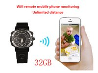 Wholesale 32gb Watch Spy Camera Hd - 720P HD WIFI Watch Remote Monitoring Camera Watch Support LED floodlight Separate Voice-Recording IR Night Vision 32GB,Y30 watch spy camera