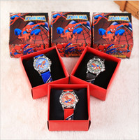 Fashion spiderman watch box - 2017 Pikachu Poke Watch D Cartoon Children Wrist Watches Luxury Frozen Spiderman Sofia Ben Princess Boys Girls Watch Wristwatch with Box