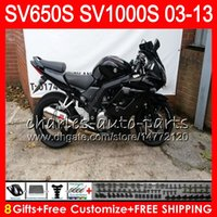 Wholesale 11 s white gold for sale - 8Gifts For SUZUKI SV1000S SV650S gloss black NO41 SV1000 S SV650 S SV S S Fairing