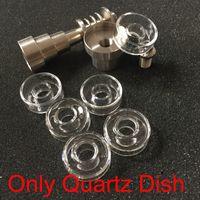 Wholesale od tools - 100% real Quartz Quartz Dish Hybrid Titanium Nail Replacement Dishes OD 25mm 22mm Quartz Nails Dab Rig pure tast Hybrid Nails Bong Tool