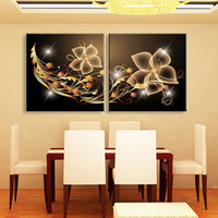 Wholesale Canvas Beautiful Flower Paint - Illuminated Flowers Printings LED Flashing Paintings Lighted Canvas Wall Art Prints For Beautiful Home Wall Decor