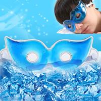 buz gözlükleri toptan satış-Buz Uyku Göz Maskeleri Yaz Buz Gözlük Siperliği Rahatlatmak Kapak Gözler Yorgunluk Koyu Halkalar Kaldırmak Jel Gözler Göz Bakımı Uyku Maskeleri
