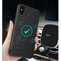 Wholesale Iphone Hold Case - For iphone X case Nillkin QI Wireless Charging Receiver back cover For Samsung Galaxy Note 8   Galaxy S8 S8+ fit with Magnetic Hold