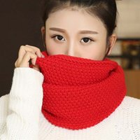 New Fashion Women's Girl's Winter Ring Scarf Scarves Wrap Shawls Warm Knitted Neck Circle Cowl Snood Para 8 cores