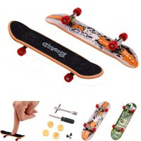Wholesale Plastic Toy Mini Bikes - Alloy Stand FingerBoard Mini Finger boards & Boring Decompression Toys Finger Skateboard for Kid Toys Children Gift