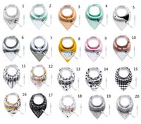 Wholesale Newborn Wears - 29 design for choose Fashion Newborn Baby Bib With Clip Baby Care Burp Cloth Cotton Double Layer Baby Double Wear Triangle Bib