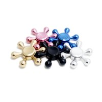 Wholesale Detachable Bike - Hexagon Hand Spinner EDC Aluminium Alloy Six Angle Finger Tips Detachable Novelty Toys in individual package