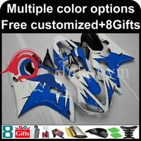 Wholesale Yamaha Silver Flamed Fairing - blue flames motorcycle cowl for Yamaha YZF-R1 1998-1999 98 99 YZFR1 1998 1999 98-99 ABS Plastic Fairing