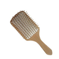 2018 Hair Care Wooden Spa Massage Comb Wooden Paddle Pointed Handle Teeth Hair Brush Antistatic Cushion Comb