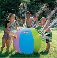 Wholesale play balls kids - Inflatable Beach Water Ball Outdoor Inflated Toy For Baby Kids water Spray Balloon Outdoors Play In The Water Beach Ball b1189
