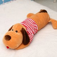 Wholesale Large Stuffed Toy Dogs - Large Stuffed Plush Animals Sleeping Dog Doll Cute Pillow Juguetes Perro Birthday Gift Almofadas Toys For Children Girls 60G0513