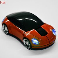 Wholesale Laptops Super Cooling - Wireless Mouse Cool Fashion Super Shaped Car Mouse USB 2.4G Optical Mouse Mice For Laptop PC Computer USB Receiver Creative Gift SV006287