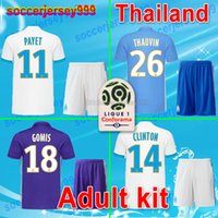 Wholesale Marseille Football Kit - 2017 Olympique de Marseille soccer jerseys 17 18 Adult kit thailand quality home away 3rd ANGUISSA maillot de football shirts uniform