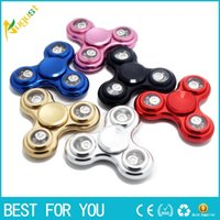 Wholesale Hot sale LED light Colorful Fidget Spinner electroplate Colour Hand Spinner Plastic EDC For Autism And ADHD Children Toy Tri Spinner Fidget