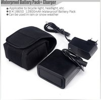 Wholesale Rechargeable Battery Packs For Bicycles - Silicone Waterproof Battery Pack 12800mAh 8x18650 8.4V baterias embalar for Bike Lamp bicycle Light luz bicicleta With Charger