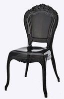 Wholesale royal chair princess chair VIP chair acrylic dining chairs