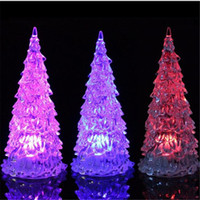 LED Weihnachtsbaum Licht 7 Farben blinkende Kristall Weihnachtsbaum Nightlight Lampe Outdoor Indoor Weihnachten Lichter Dekorationen Ornamente DHL frei