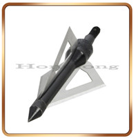Wholesale 12Pcs Hunting Archery Broadhead Arrows Blades Gr Bow and Crossbow Arrow Broadhead Black Hunting Broadheads