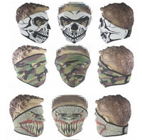 Wholesale wind protection masks resale online - Tactical Hunting Hood full Face Skull Heads Mask Protection Balaclava Hats Wind proof Wargame Face Masks party cycling mask Halloween masks