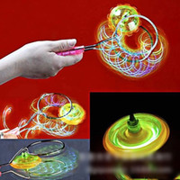Wholesale Spin Top Magnetic - Magnetic Gyro Wheel Magic Spinning Top Laser Led Gyro Colorful Plastic ABS Light Toy Kids Baby Flashing Spinning Top