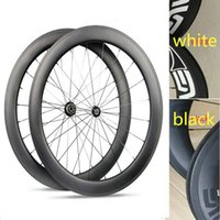 Wholesale Matt Black Wheel - UD matt evn bicycle carbon wheels black white decal road bike wheels clincher 700C basalt surface full carbon wheels with ceramic bearing