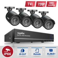 8ch cctv dvr оптовых-Беспроводная камера видеонаблюдения Wi-Fi SANNCE 8CH CCTV Система 4 в 1 DVR 4 ШТ. 720 P ИК Всепогодный Открытый Камеры Системы Домашней Безопасности
