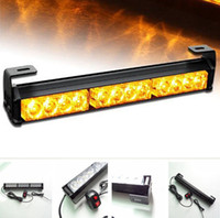 12 LED Car Emergency Beacon Flash Light Bar Hazard Strobe Warning Lamp Amber