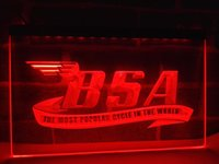 Wholesale Bsa Light - LG209g- BSA Motorcycles Cycle LED Neon Light Sign