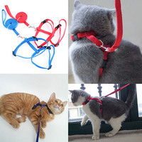Wholesale Puppies Leash - Adjustable Nylon Cat Puppy Pet Harness Collar Lead Leash Traction Safety Rope